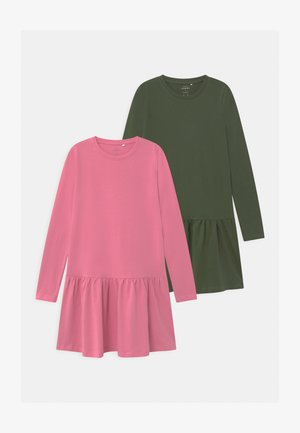 NKFVETA 2 PACK - Jersey dress - wild rose