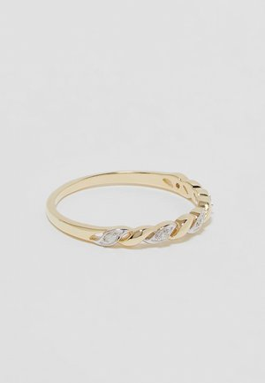 9KT YELLOW GOLD CERTIFIED DIAMOND FASHION RING - Pierścionek - gold-coloured