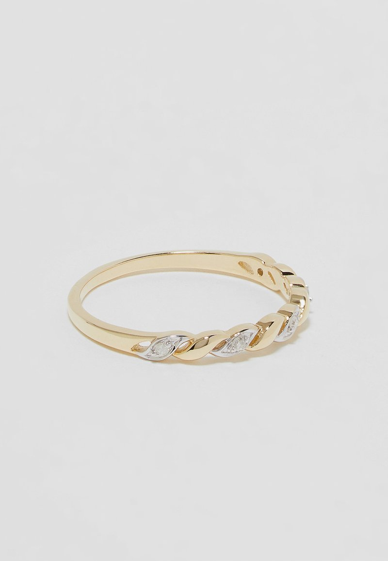 DIAMANT L'ÉTERNEL - 9KT YELLOW GOLD CERTIFIED DIAMOND FASHION RING - Ring - gold-coloured