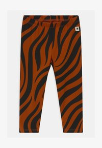 Lindex - ZEBRA UNISEX - Leggings - Trousers - off black - 0