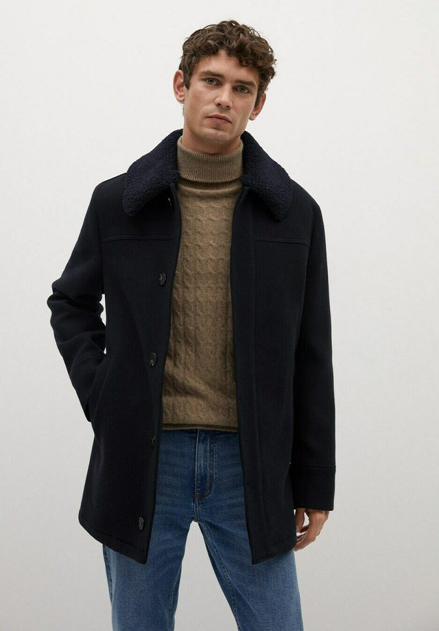 LANZA - Short coat - dark navy