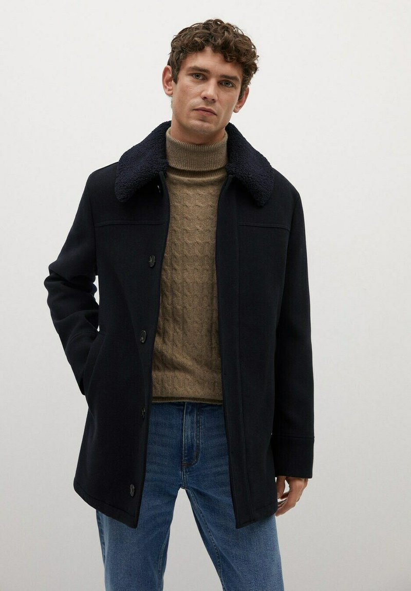 Mango - LANZA - Short coat - dark navy