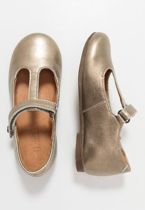 FIONAS T-BAR NARROW FIT - Klassischer  Ballerina - gold