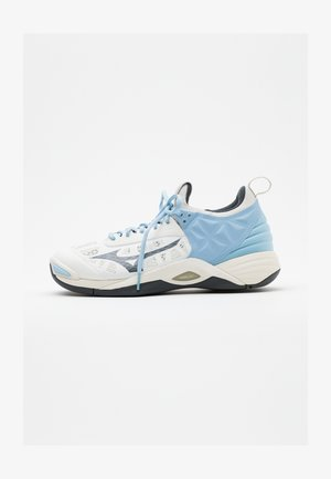 WAVE MOMENTUM - Volleyball shoes - white/dark shadow