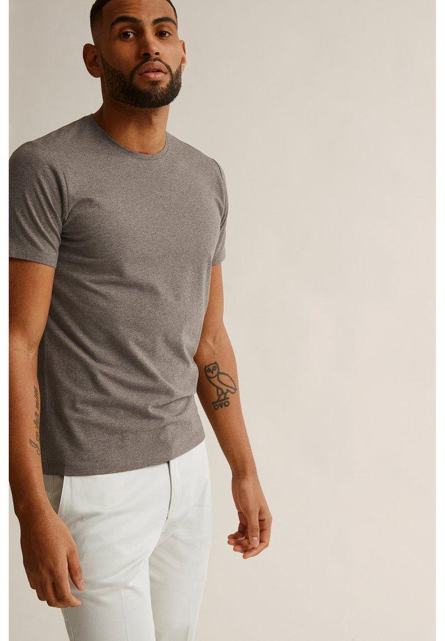 T-shirt basic - greige melange