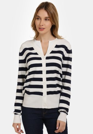 Cardigan - off-white/navy