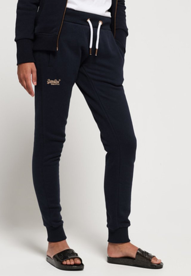 ORANGE LABEL - Tracksuit bottoms - elite navy
