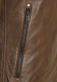 Strellson - DERRY - Leather jacket - tobacco - 6