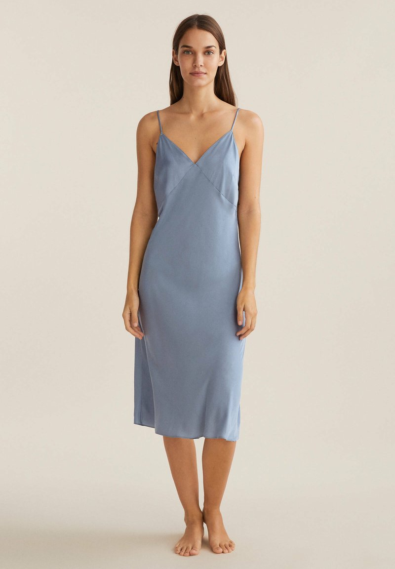 OYSHO - CAMISOLE - Nightie - light blue