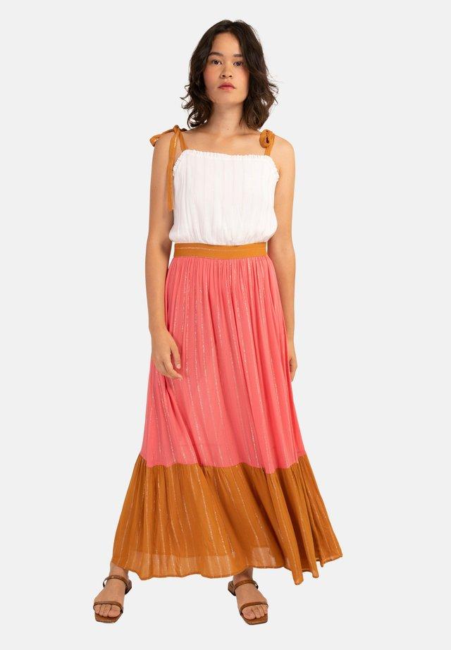 ARMERIA - Maxi-jurk - white, pink, brown
