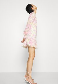 River Island - HIGH NECK BROIDERY DRESS - Day dress - multi-coloured - 3