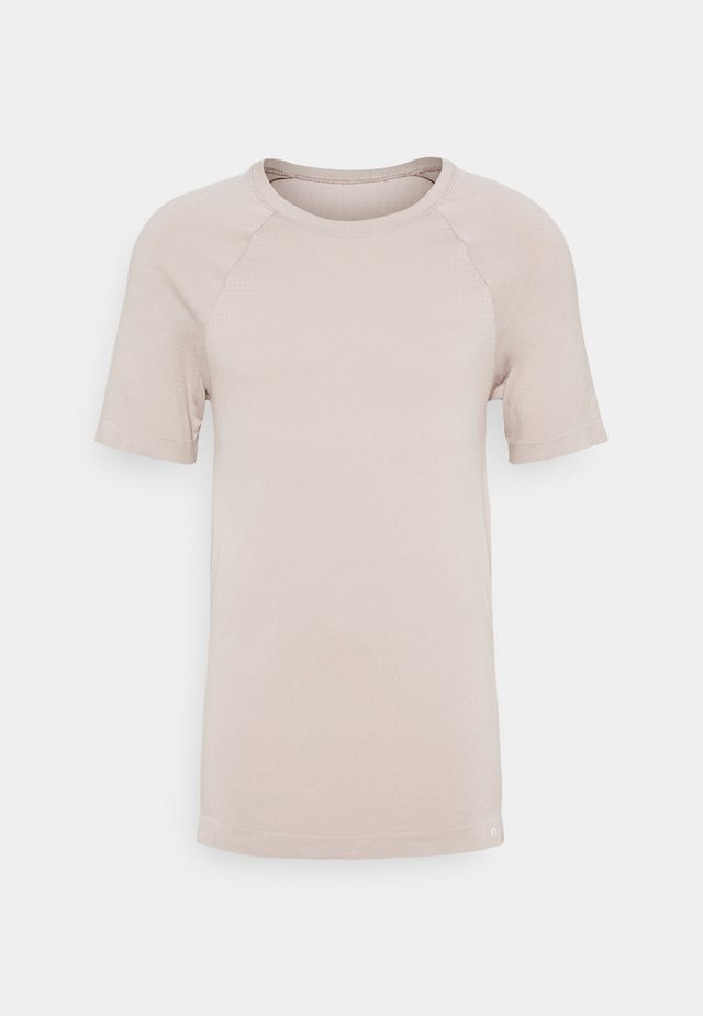 SHORT SLEEVE TRAINING  - Basic T-shirt - beige