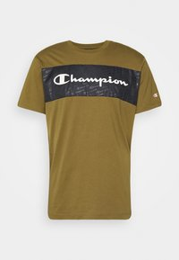 Champion - LEGACY HERITAGE TECH SHORT SLEEVE - T-shirt med print - olive/black - 3