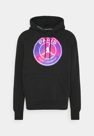 JORDAN PARIS ST GERMAIN HOODIE - Club wear - black