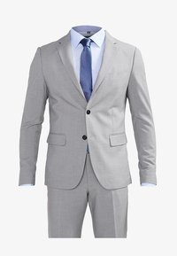 PLAIN MENS SUIT - Traje - light grey melange