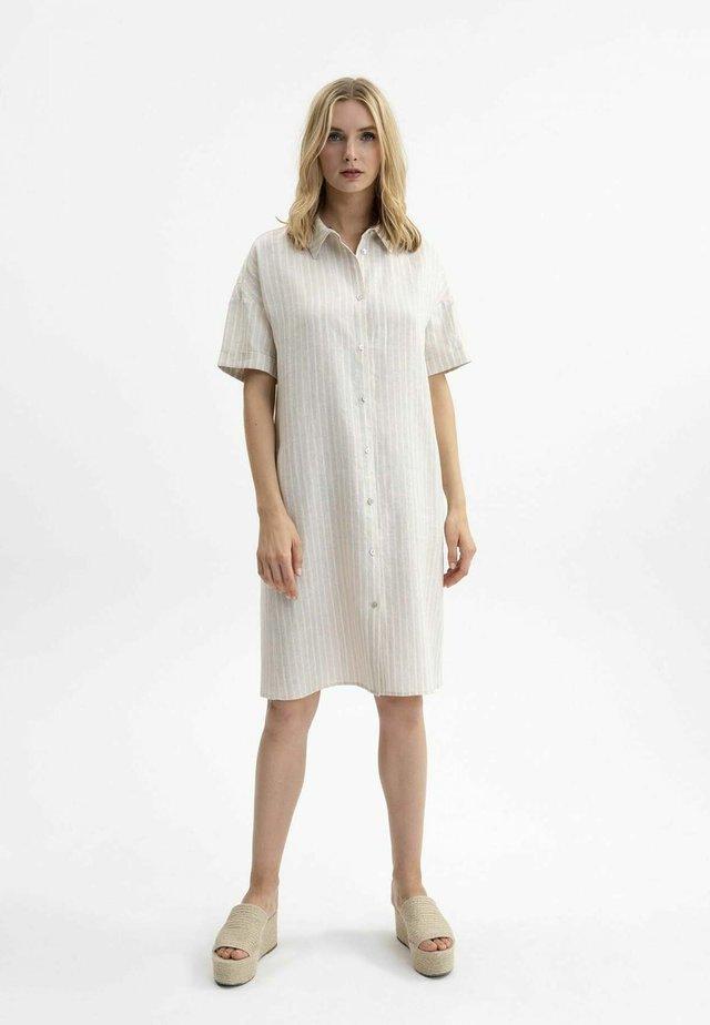 Shirt dress - natur gestreift