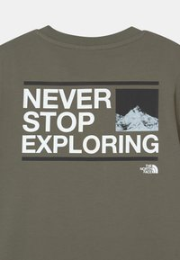 The North Face - EXPLORE UNISEX - Print T-shirt - agave green/white/black - 2