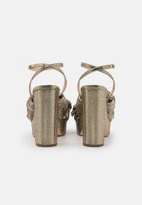 Loeffler Randall - NATALIA - Sandály na vysokém podpatku - gold lame - 3
