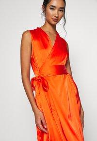 Never Fully Dressed - TANGERINE SLEEVELESS WRAP DRESS - Cocktail dress / Party dress - tangerine - 5