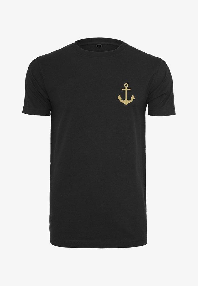 CAPTAIN  - T-shirt med print - black