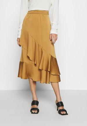 AUBREE - Áčková sukně - gold