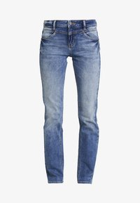 TOM TAILOR - ALEXA - Straight leg jeans - mid stone wash denim blue - 4