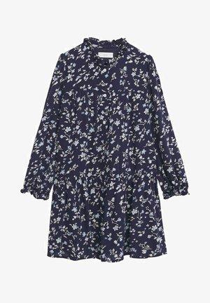 FLUIDE IMPRIMÉE - Shirt dress - bleu marine foncé