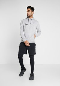 Nike Performance - DRY HOODIE - Hoodie - grey heather - 1