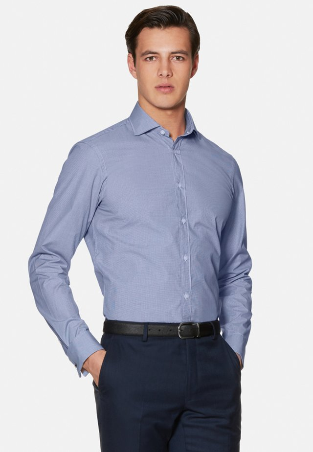 FITTED DOUBLE CUFF SHIRT - Shirt - navy