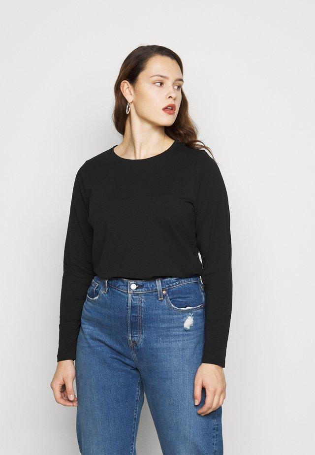 CREW - T-shirt à manches longues - black