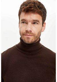 DeFacto - Stickad tröja - brown - 4