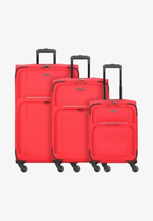 3  PACK - Luggage set - red