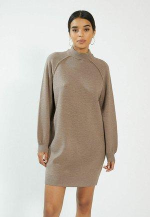 Gebreide jurk - kastanienbraun