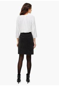 s.Oliver BLACK LABEL - Mini skirt - true black - 2