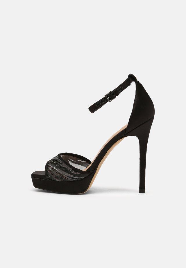 WICOETHIEL - Sandalen met plateauzool - black
