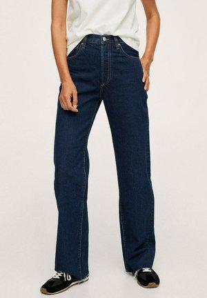 WIDELEG MIT HOHER TAILLE - Flared Jeans - dunkelblau
