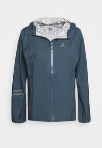 Salomon - LIGHTNING - Hardshell jacket - dark denim - 3
