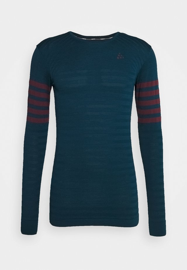 DRY FUSEKNIT BLOCKED - T-shirt de sport - navy