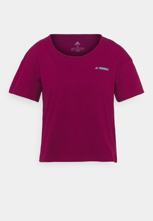 TERREX ONLYCARRY GRAPHIC - T-shirts med print - power berry