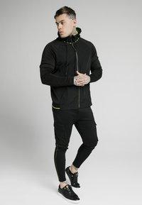 SIKSILK - ADAPT CRUSHED ZIP THROUGH - Summer jacket - black - 1