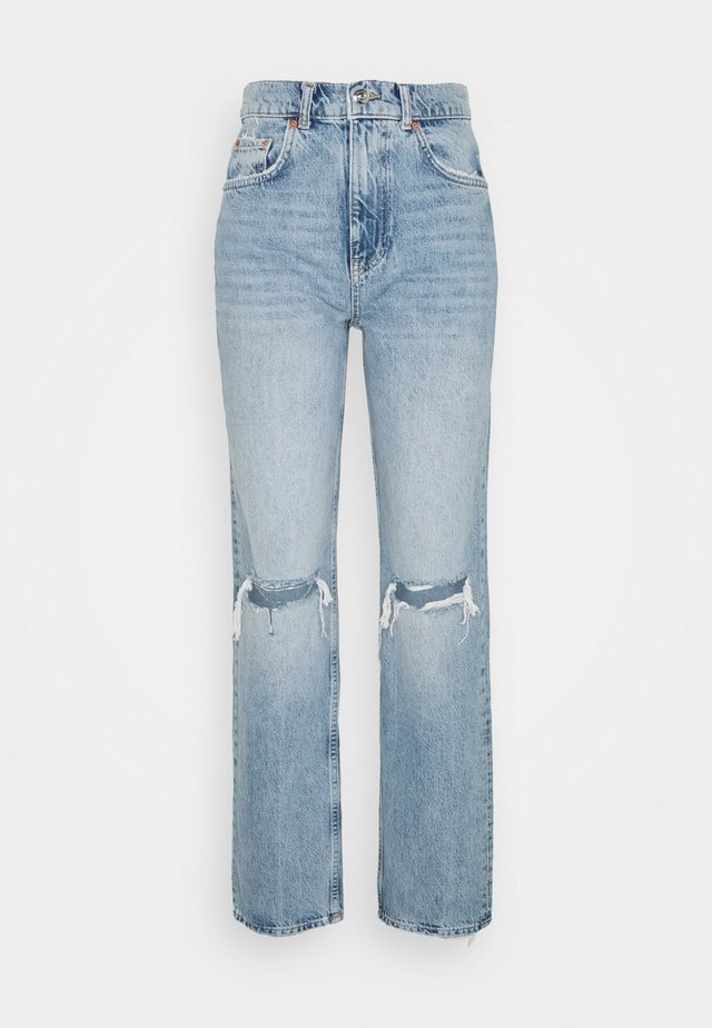 90S HIGH WAIST - Jeans relaxed fit - blue destroy