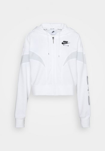 AIR HOODIE - Zip-up sweatshirt - white/pure platinum/black