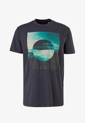 Print T-shirt - dark blue placed print