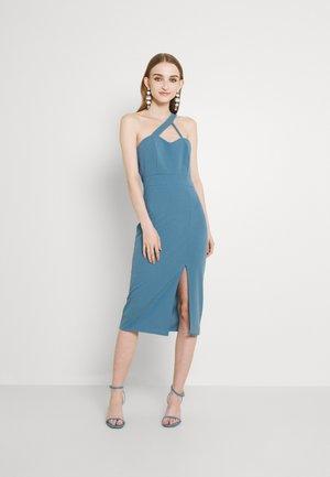 SAVANAH HALTER NECK MIDI DRESS - Jersey dress - light blue