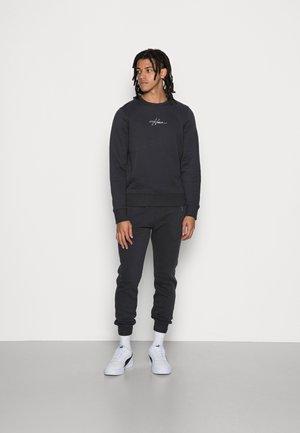 FLEECE SCRIPT LOGO - Sweater - black