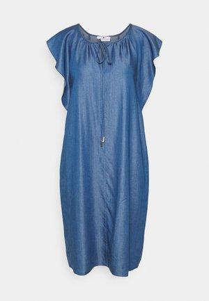 FLOATER SLEEVES DRESS - Denimové šaty - light blue