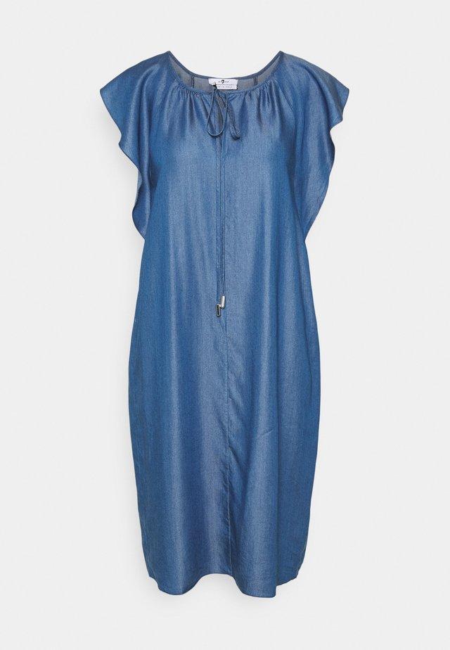 FLOATER SLEEVES DRESS - Spijkerjurk - light blue