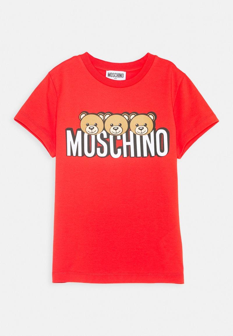 MOSCHINO - Print T-shirt - poppy red