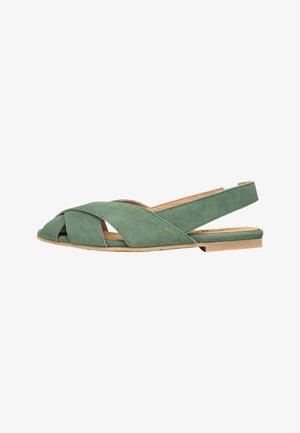 Slingback ballet pumps - dunkelgrün