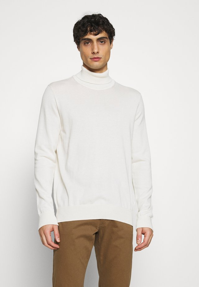 SIGNATURE ROLL NECK - Maglione - ivory